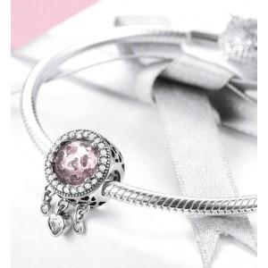 """Подвеска """"Розовые сияющие сердца"""" , С8231"""