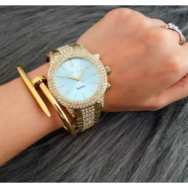 Жіночі годинники в каменях, золотисті, С8334