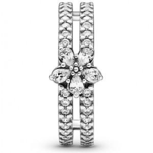 """Кольцо из серебра """"Сияющая снежинка"""" , С8364"""