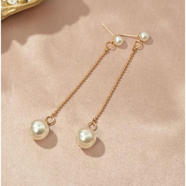 """Жіночі сережки """"Перли"""", С8410"""