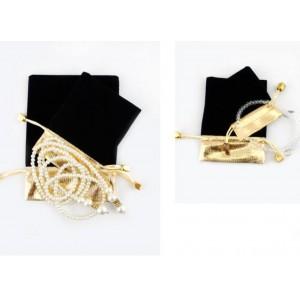 Подарочный мешочек черный бархатный, С8433
