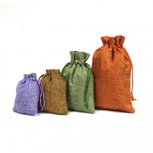 Подарочный мешочек льняной, коричневый, С8441