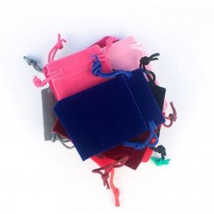 Подарочный мешочек бархатный, розовый, С8446