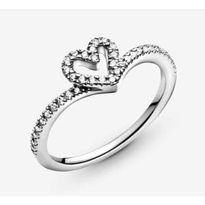 """Кольцо """"Сверкающее сердце"""" , С8590"""