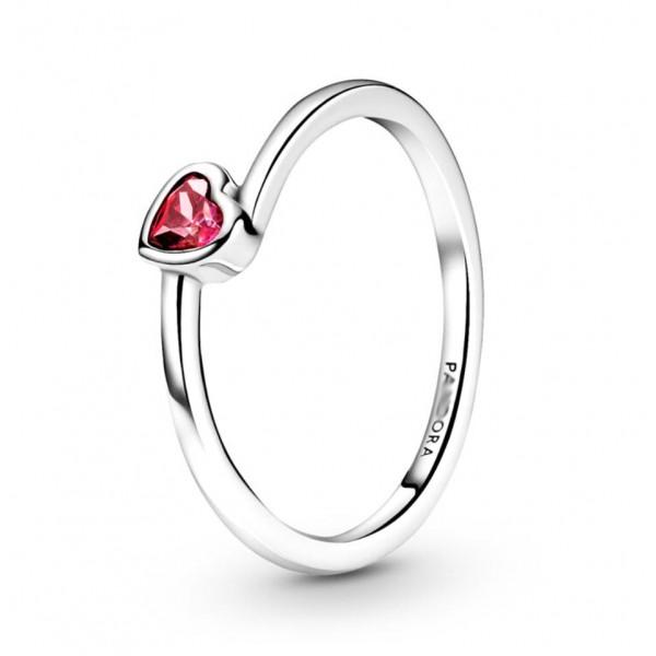 """Кольцо """"Красное ассиметричное сердце"""" , С8592"""