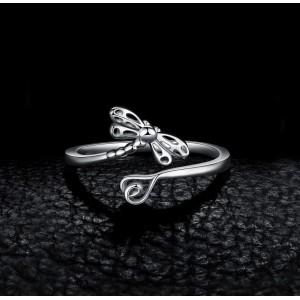 """Серебряное кольцо """"Стрекоза"""", С8670"""