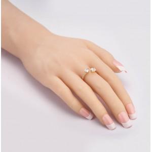 """Женское кольцо с камнем """"Сердца"""", С8787"""