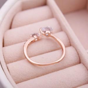 """Женское кольцо с камнем """"Сердца"""", С8788"""