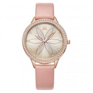 """Часы женские """"SK"""", розовые, С8853"""