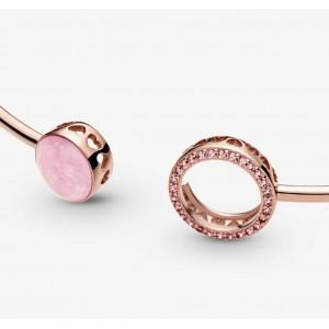 """Браслет bangle """"Рожева емаль """"Rose, С8894"""