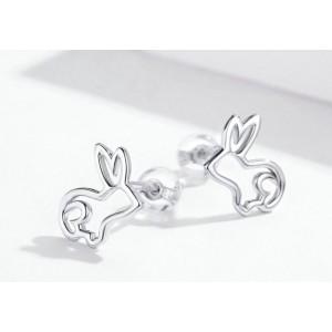 """Серьги из серебра """"Кролик"""", С8943"""