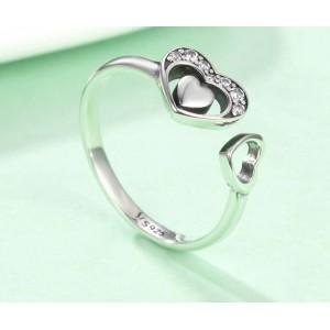 "Кольцо из серебра ""Сердца"", С8945"