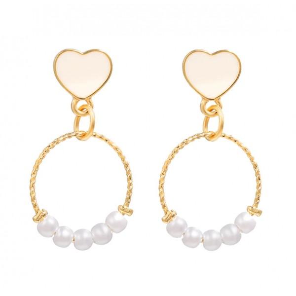 Жіночі сережки з перлами, С9178