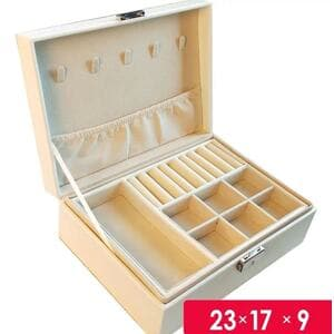 Шкатулка для украшений органайзер, белая, С9296