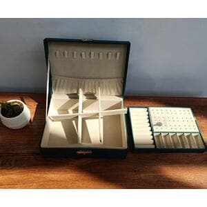 Шкатулка для украшений органайзер, черная, С9297
