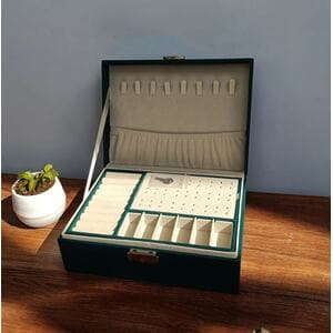 Шкатулка для украшений органайзер, розовая, С9301