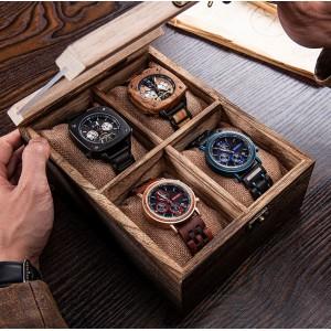 Деревянная шкатулка для часов, 4 шт, С10004