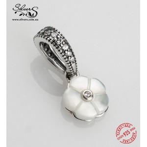 """Подвеска """"Белый цветок"""" , С843"""